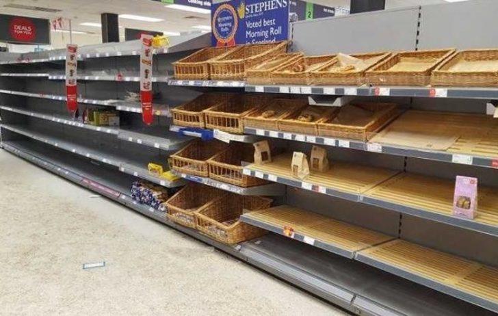 İngiltere'de halk erzak sıkıntısı yaşıyor