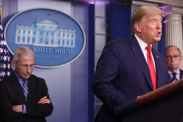 ABD Başkanı Donald Trump'tan koronavirüs açıklaması: Tünelin ucundaki ışığı görüyoruz