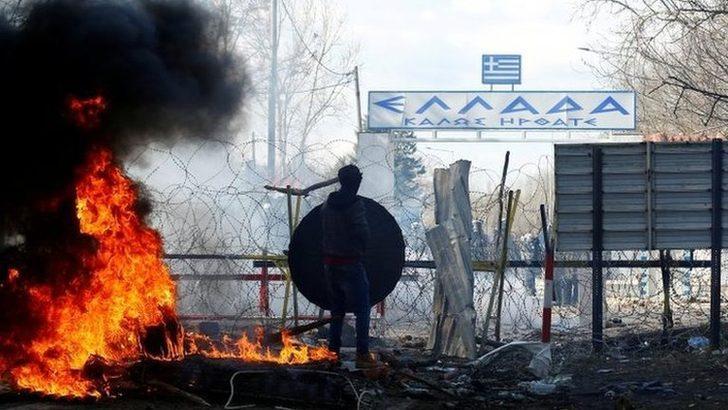 Yunanistan göçmen akını sonrası tatbikata başladı