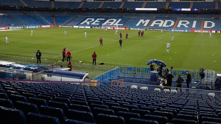 """Santiago Bernabeu Stadı, Kovid-19'la mücadelede """"sağlık deposu"""" olacak"""