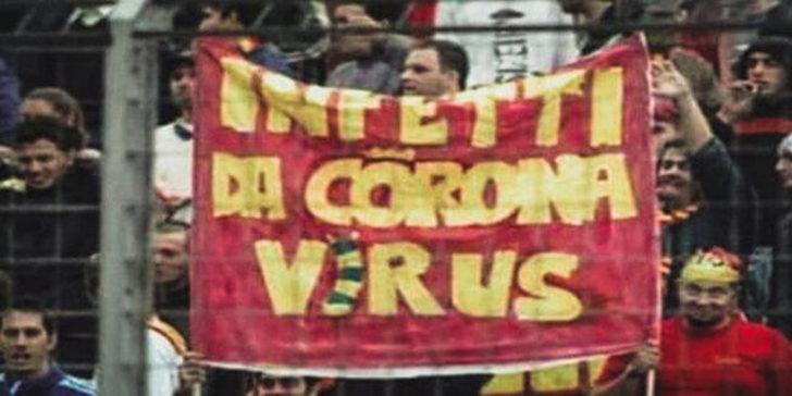 İtalya'da 17 yıl önce koronavirüs pankartı açıldığı ortaya çıktı