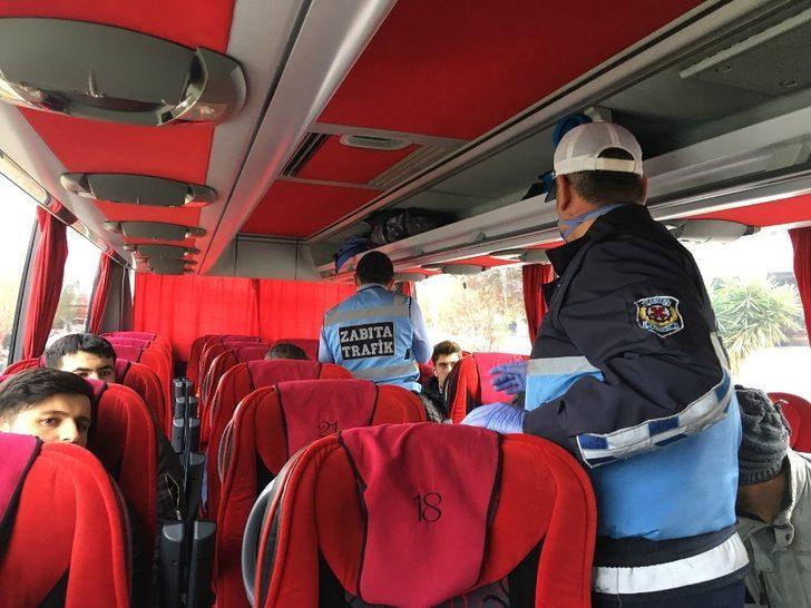 İzmir otogarında virüse karşı yolcu denetimi