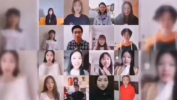 Çin'de Türk Dili okuyan öğrenciler, koronavirüs için Türkiye'ye destek mesajları yolladı