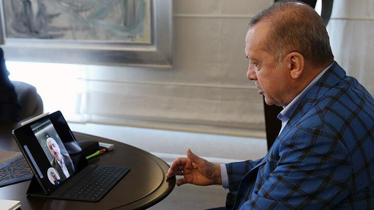 Cumhurbaşkanı Erdoğan, yeni Ulaştırma Bakanı ile video konferans yöntemiyle görüştü