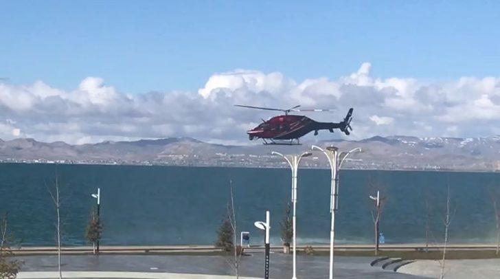 Turizm ilçesi Edremit'te helikopter destekli denetim