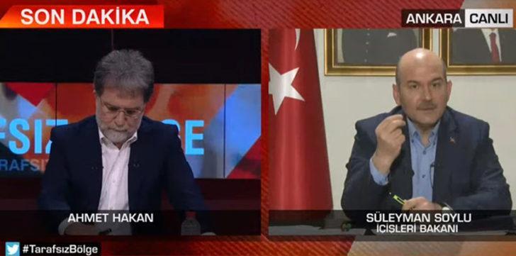 Ahmet Hakan herkesin merak ettiği o soruyu Bakan Soylu'ya sordu: AK Partili belediyeye müdahale edildi mi?