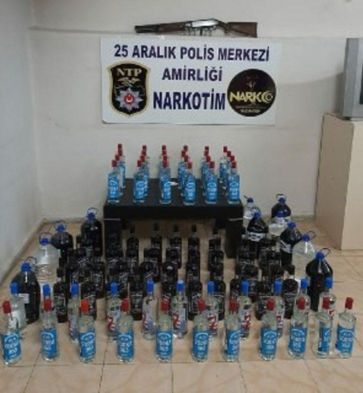 Gaziantep'te kaçak ve sahte alkol operasyonu