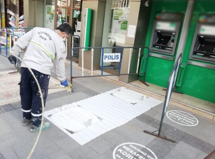 Malatya Büyükşehir'den sosyal mesafe çalışması