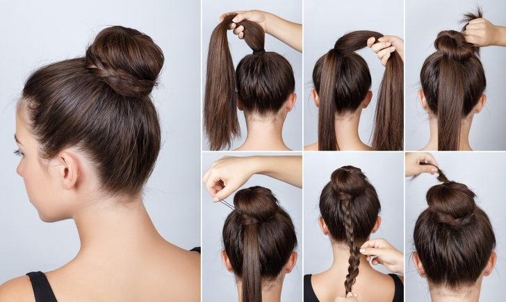 Evde tek başınıza yapabileceğiniz birbirinden güzel topuz saç modelleri!