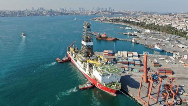 Dev sondaj gemisi Haydarpaşa Limanı'nda!