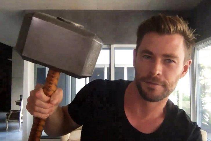 Thor yıldızı Chris Hemsworth, setten eşya çaldığını itiraf etti