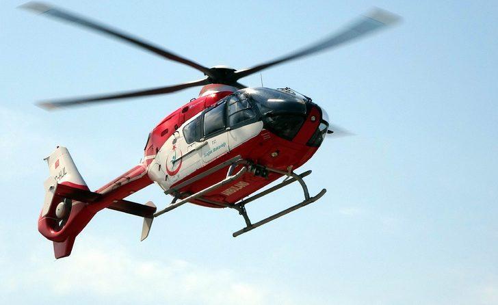 'Pes' dedirten olay! Ambulans helikopterin inmesine izin vermediler