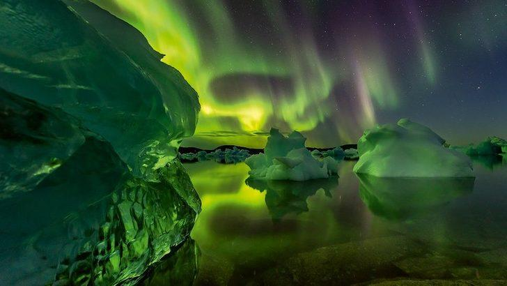 Fotoğraflarla: Kuzey ülkelerinde 'gerçek üstü' ışıklar