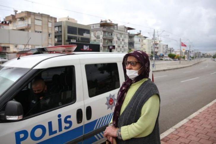 Polis denetiminden dram çıktı; yaşlı kadın sokağa atıldı