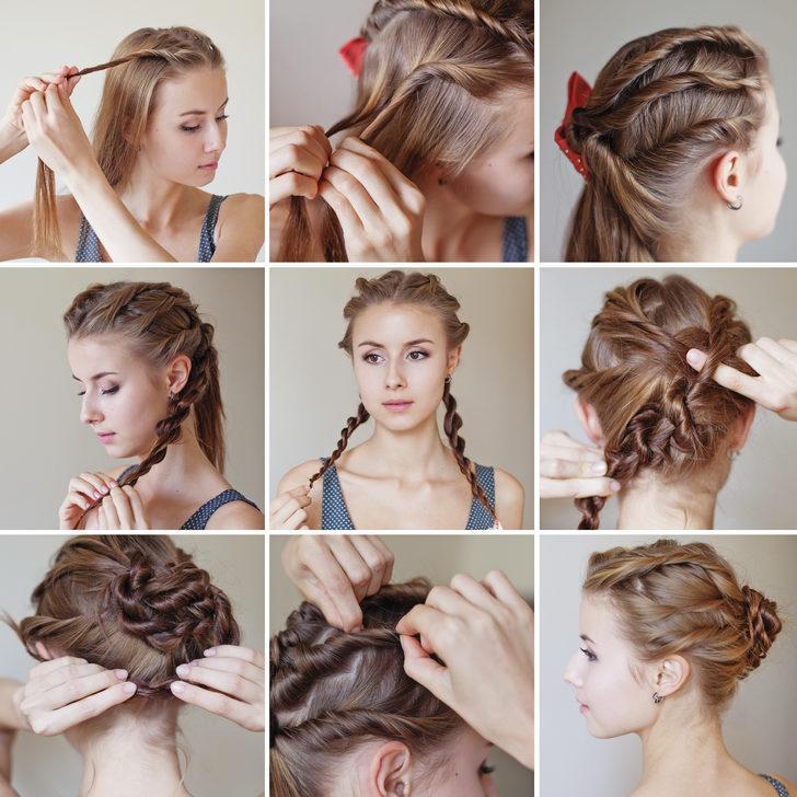 Sadece 5 dakikada yapabileceğiniz kolay saç modelleri!