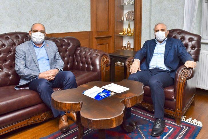Başkan Zorluoğlu ve TESOB Başkanı Kara bir araya geldi, projelerle ilgili istişarede bulundu
