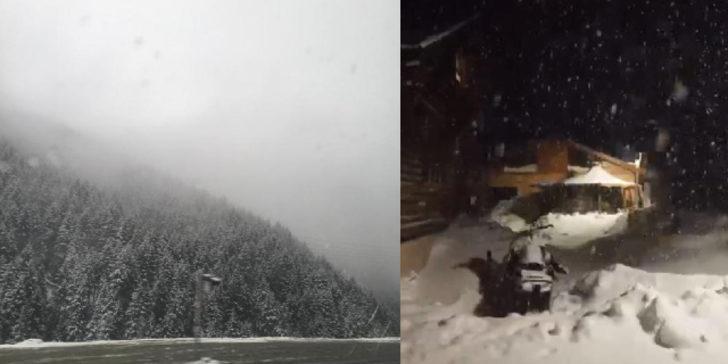 Doğu Karadeniz'e yüksek kesimlere kar yağdı