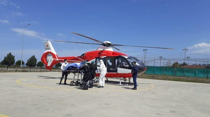 Helikopter ambulans bakımdan çıktı hastalar için havalanmaya başladı