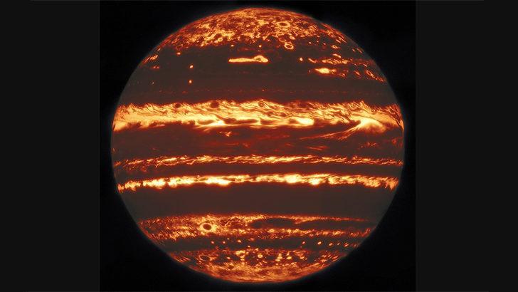 Jüpiter'in kızılötesi fotoğrafı çekildi
