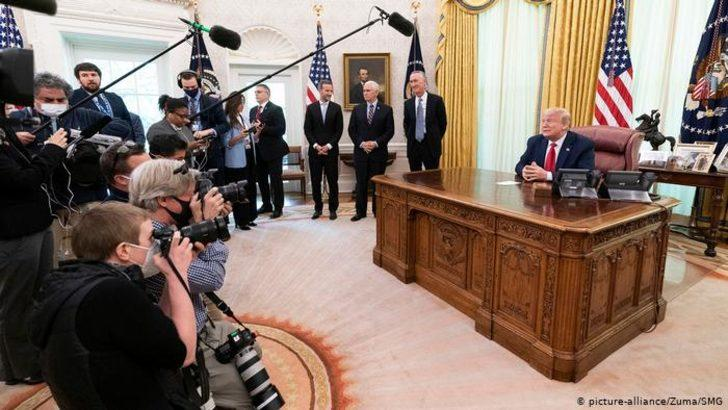 Koronavirüs: Trump ve Pence hariç herkese maske
