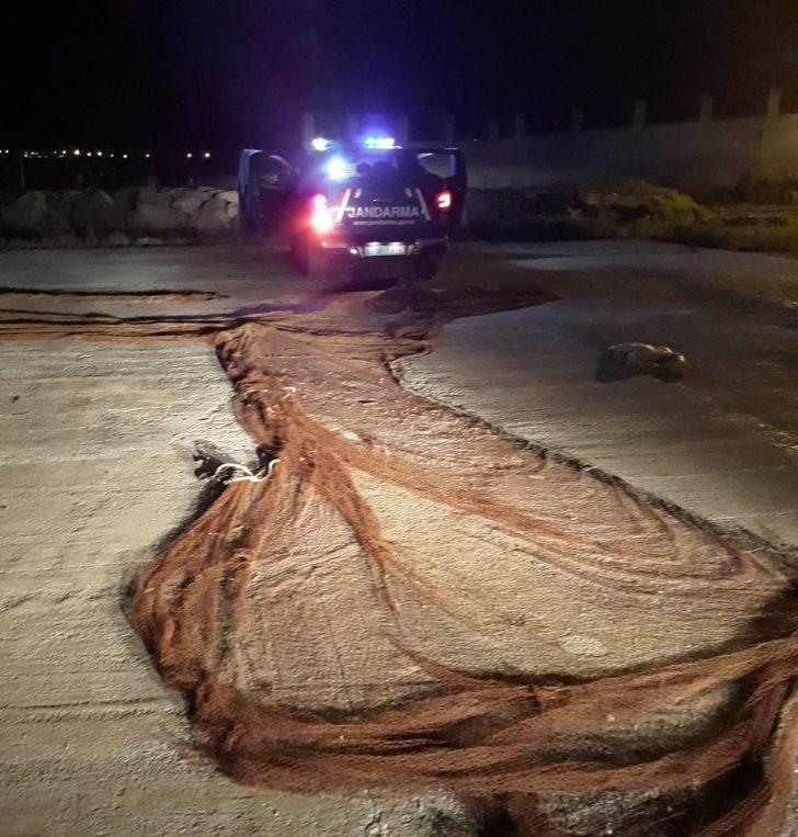 Van'da 350 metre manyat tipi ağ balık ele geçirildi