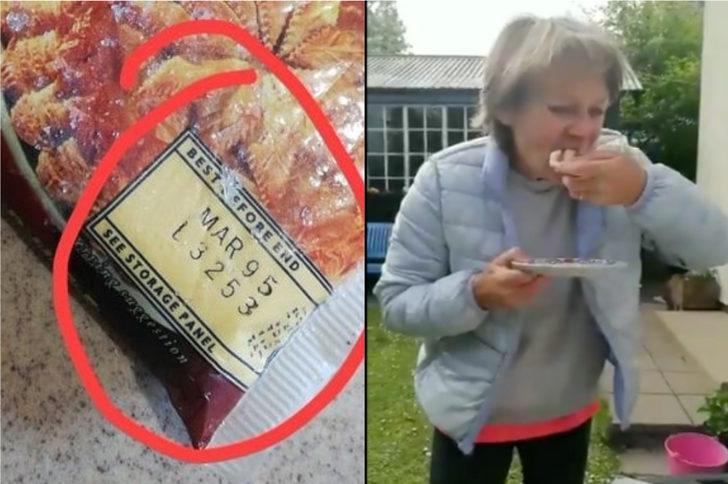 Annesinin dondurucusunu temizlerken 25 yıllık milföy hamuru buldu