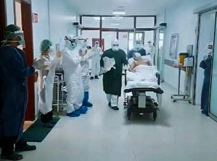 81 yaşındaki koronavirüs hastası, 1 ay sonra yoğun bakımdan çıktı