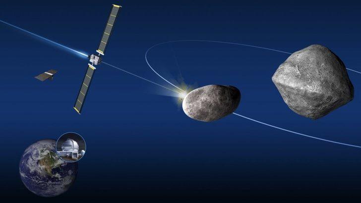 NASA'nın göktaşlarına çarparak yörüngesini değiştirme denemesi Dünya için riskli mi?