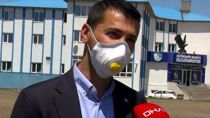 Erzurumspor Başkanı Hüseyin Üneş: 83 kişiye test yapıldı