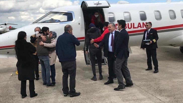 Salih Kör - Sağlık Bakanlığı Hollanda'da yaşayan lösemi hastası Salih Kör'ü ambulans uçakla Türkiye'ye götürdü