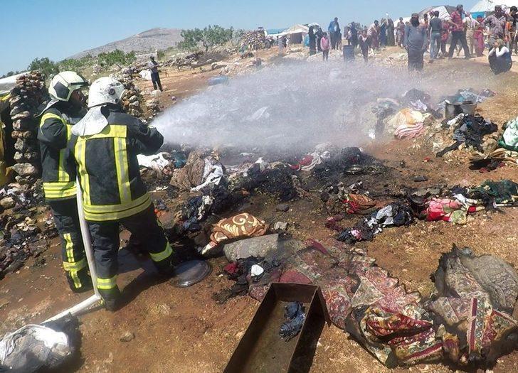 Suriye'de mülteci kampında yangın: 1 çocuk hayatını kaybetti
