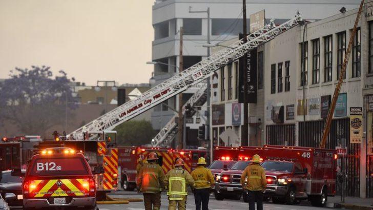 Los Angeles'taki Patlamada İtfaiye Görevlileri Yaralandı