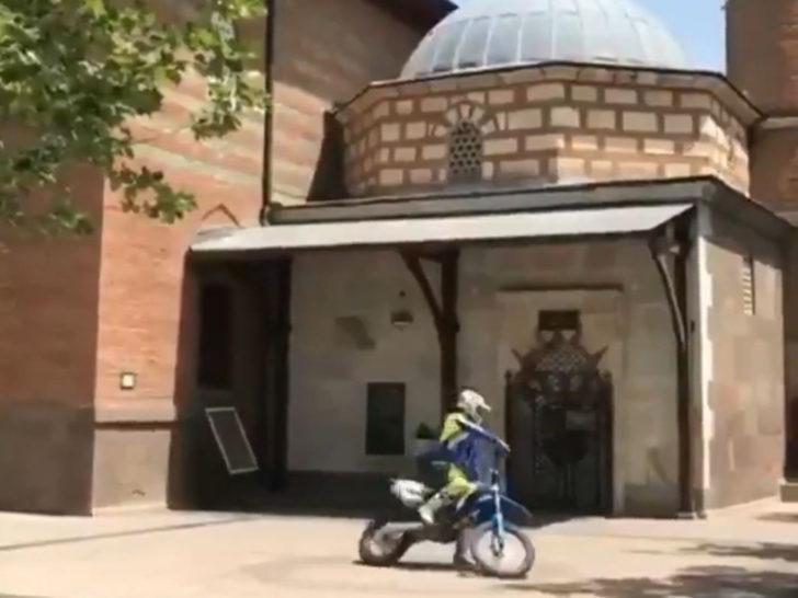 Hacı Bayram Veli Türbesi önünde motosikletle drift! Ankara Valiliği'nden açıklama
