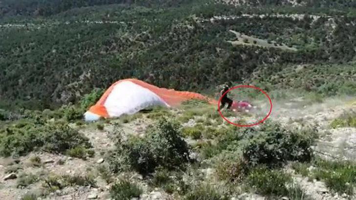 Nallıhan'daki 19 Mayıs etkinliğinde yamaç paraşütü kazası!