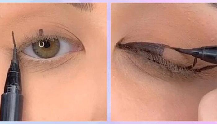 Eyeliner sürmenin en kolay yolu! Yöntemini milyonlarca kişi izledi