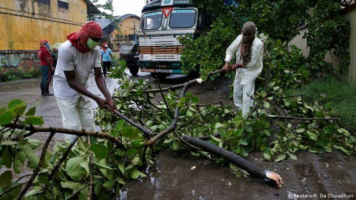 "Hindistan ve Bangladeş'te ""Amphan"" felaketi"