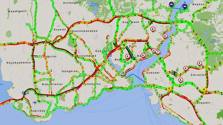 İstanbul trafiğinde yoğunluk dikkatlerden kaçmadı