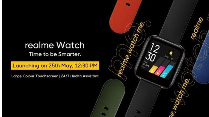 Realme Watch'ın özellikleri olmaya başladı