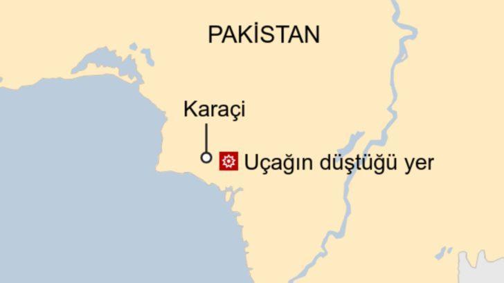 Pakistan'ın Karaçi kentinde 107 kişiyi taşıyan uçak düştü