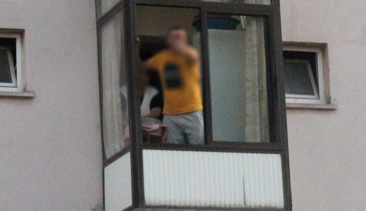 Polisi çileden çıkardı! Evinin balkonuna kaçtı cezadan kurtulamadı