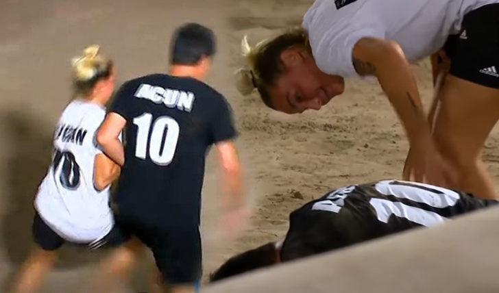 Survivor 2020'de futbol maçını kim kazandı? Survivor futbol maçında Aycan Acun Ilıcalı'yı yere yıktı!