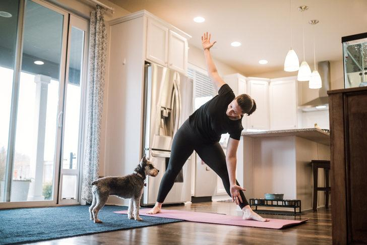 Kişisel karantina sürecinde kalp sağlığı için 20 dakika egzersiz şart