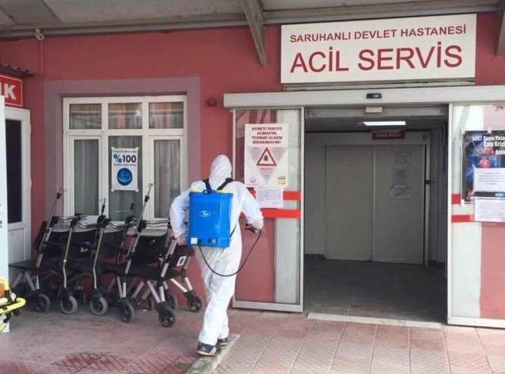 Saruhanlı Devlet Hastanesi'nin poliklinikleri koronavirüs nedeniyle kapatıldı
