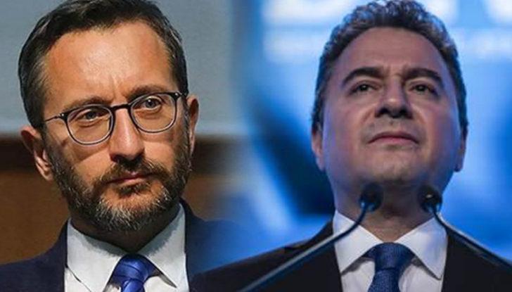 """Altun'dan """"düşünce suçluları"""" açıklaması! Ali Babacan'a gönderme"""