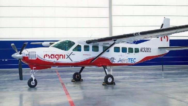 Dünyanın en geniş oturma kapasiteli elektrikli uçağı ilk kez yarın havalanıyor