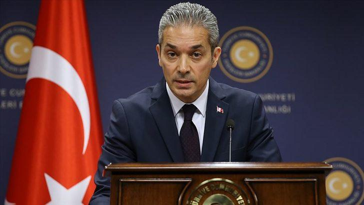 Dışişleri Bakanlığı Sözcüsü Aksoy'dan Mısır Dışişleri Bakanı'nın Türkiye'yi hedef alan suçlamalarına tepki