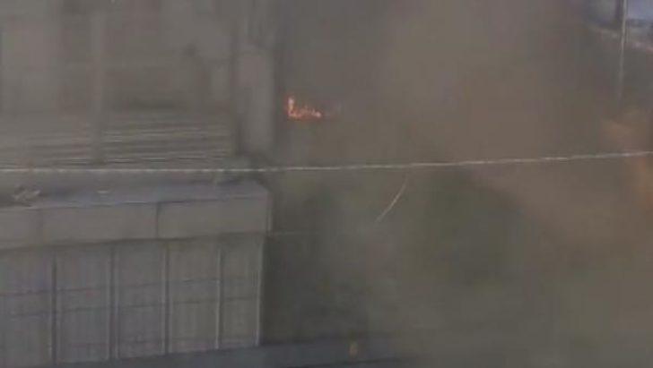Bakırköy Marmaray Durağı yakınında yangın!