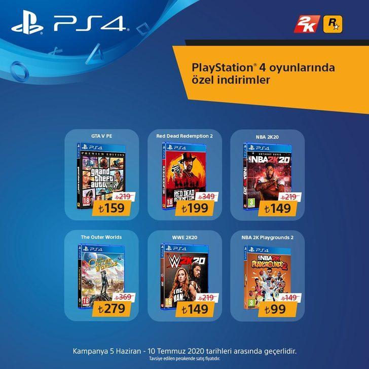 Sony, Take Two oyunlarında indirim kampanyası başlatıyor