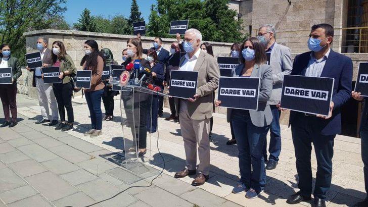 HDP Darbe Var Sloganıyla Meclis'ten Kızılay Yürümeye Çalıştı