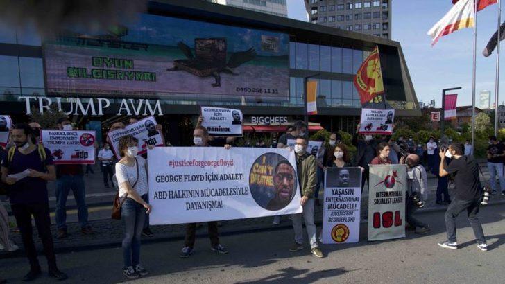 İstanbul'da Floyd İçin Trump Towers Önünde Protesto